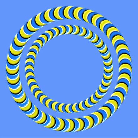 ilusion optica circulos en movimiento magic optical illusions