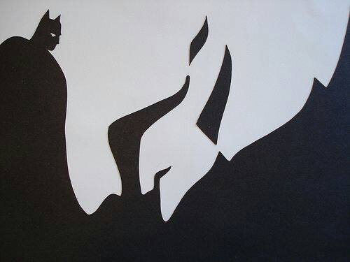 optical illusion Batman
